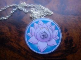 Ohm Aum Symbol handmade pendant. Sacred mystic symbol,mystical Sanskrit sound  - $39.99