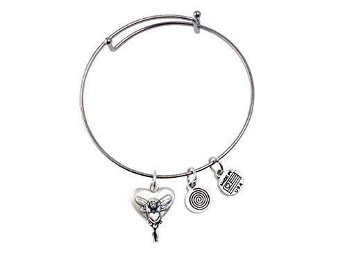 Fairy Heart Silver Bangle Bracelet