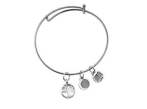 Small Tree of Life Silver Bangle Bracelet