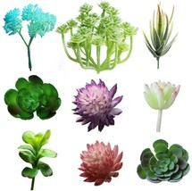 ESANDA 9 Pcs Artificial Succulents Plants, Mini Fake Artificial... - $16.89