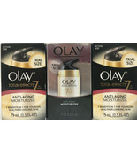 Lot of 3 Olay Total Effects 7 Anti Aging Moisturizer  0.5 oz Per Bottle   - $17.81