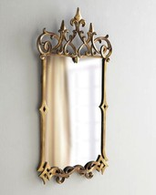 Neiman French Baroque Antiqued Gold Tuscan 19th C Style Fleur de LIs Mirror - $355.41