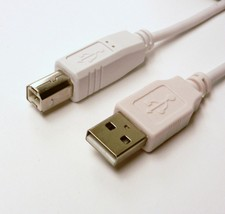 6 FT USB 2.0 A-B Printer Scanner Cable White HP Samsung Canon Lexmark Br... - $4.61
