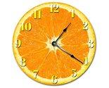 Sugar Vine Art Orange Fruit Kitchen Clock Decorative Round Wall Clock Home Decor