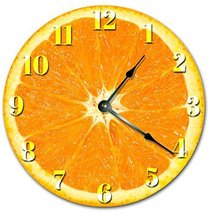 Sugar Vine Art Orange Fruit Kitchen Clock Decorative Round Wall Clock Ho... - $24.29