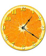 Sugar Vine Art Orange Fruit Kitchen Clock Decorative Round Wall Clock Ho... - $21.59