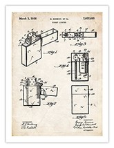 ZIPPO LIGHTER INVENTION POSTER 1936 US PATENT ART RETRO PRINT 18X24 FIRE... - $24.95