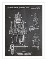 ROBOT TOY POSTER BLACKBOARD INVENTION 1955 US PATENT ART RETRO PRINT 18X... - $24.95