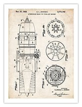 First Us Jet Afterburner Airplane Engine 1956 Johnson Patent Print 18 X24 Turb... - $24.97