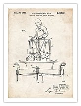 Flying Platform Invention Poster Us Air Force Ufo 1960 Patent Print 18 X24 Rob... - $24.97