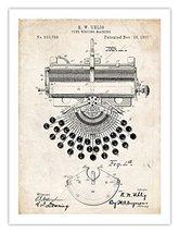 TYPEWRITER TYPE WRITER UHLIG 1897 US PATENT PRINT VINTAGE ANTIQUE 18X24 ... - $24.97