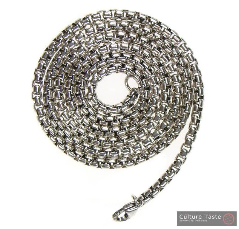 Gerochristo 3268 - Sterling Silver Chain  - 40 cm