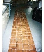 "6- 9""X4"" CONCRETE BRICK MOLDS, COBBLESTONE PATIO, FLOOR - $22.99"