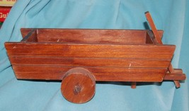 Vintage Wood CART Wagon Planter Primitive Shabb... - $19.99