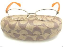 NEW COACH HC5032 Randi Eyeglass Frames Gold RX Ready 50mm With Coach Case - $46.50
