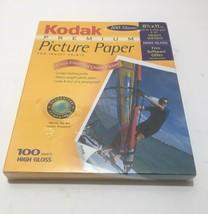 New 100 Sheets Kodak High Gloss Premium Picture Paper 8 1/2 x 11 for Inkjet - $18.97