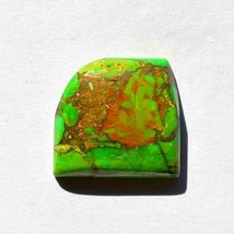 Natural Green Copper Mohave Turquoise Gemstone CabochonCraft Supplies R2... - $13.85