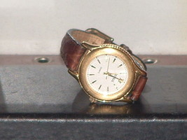 Pre-Owned Women's Benrus 42081 Gold & Brown Ana... - $10.89