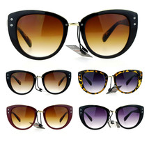 SA106 Metal Brow Oversize Cat Eye Designer Sunglasses - $12.95