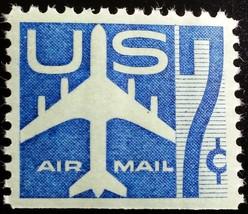 1958 7c Jet Silhouette, Blue, Booklet Single Scott C51a Mint F/VF NH - $1.77
