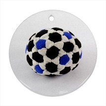 Footbag Round Porcelain Ornament - Holiday Seasons - $7.71