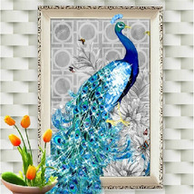5D diamond embroidery diy Painting peacock pictures mosaic Christmas gif... - $17.40