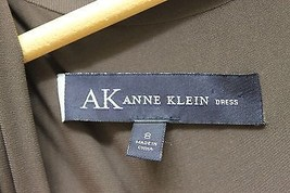 AK Anne Klein Women Dress Violet Long Sleeve Jersey Sz 8 V-Neck W Mac Wrap - $46.74