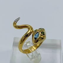 Colette Steckel Gemstone Snake Sterling Silver Ring size 9 - $89.04