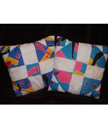 2 Pillow set (white, blue, yellow, pink, green) IN STOCK - $25.00