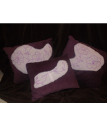 Purple pillow set of 3 IN STOCK - $20.00