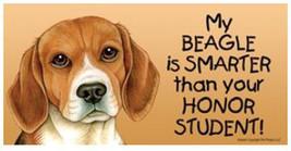 Beagle Smarter Honor Student Car Magnet Dog 8x4 Sign - $5.99