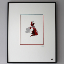Martin Allen Can Art - Coca-Cola UK Map in Larg... - $75.00