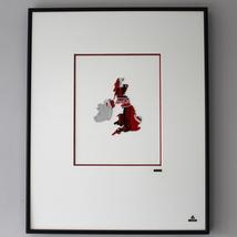 Martin Allen Can Art - Coca-Cola UK Map in Larg... - $75.00