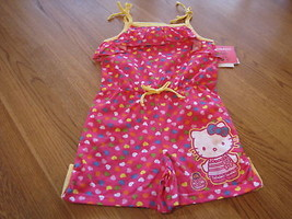 Girls Hello Kitty Romper outfit 5 pink CER NWT HK59039^^ - $21.64