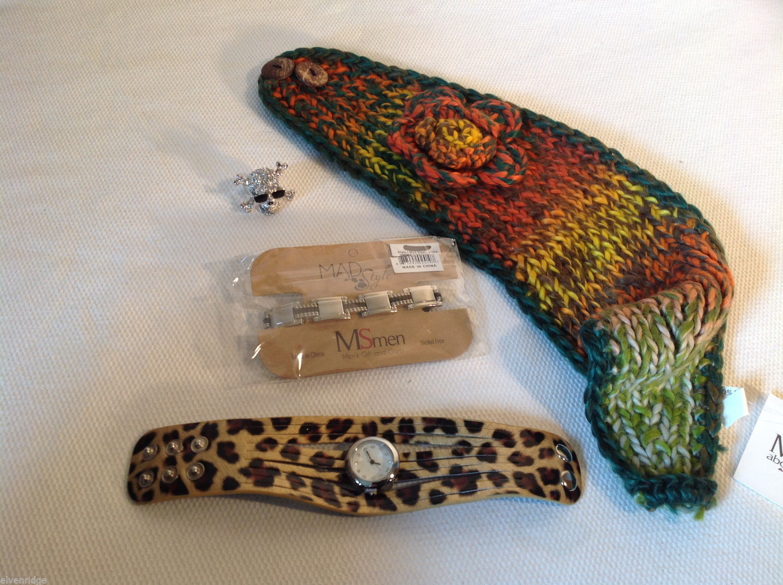 4pc Mad Style Lot - headband, bracelet, watch, ring Mostly NEW
