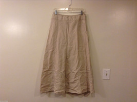 Charter Club 100% Linen Natural Color A-line Long Skirt, size10, unlined