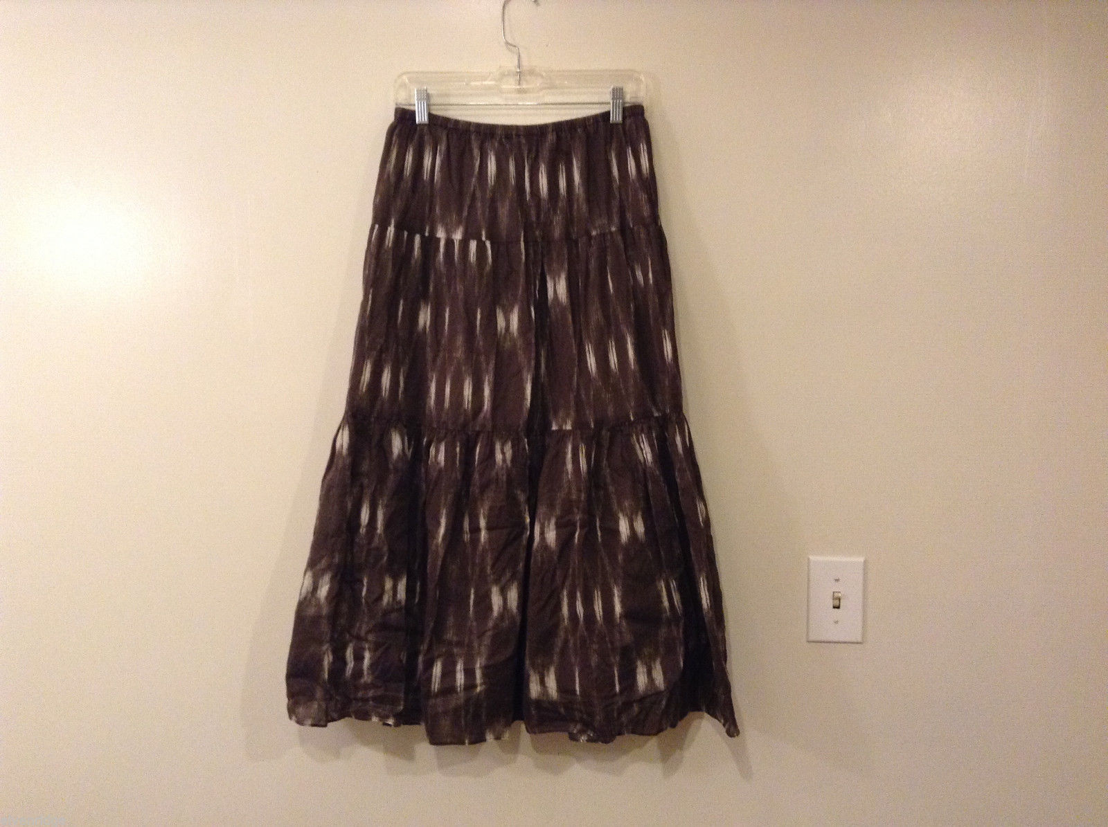 Talbots Petites Tiered Brown Skirt 100% cotton size S fully lined
