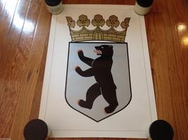 """Vintage Bear Crest Poster Excellent Sigil 16.75""""x23.5"""""""