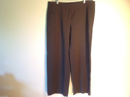 Womens Giorgio Armani Dark Brown Flat Front Trouser Dress Pants Slacks I... - $40.58