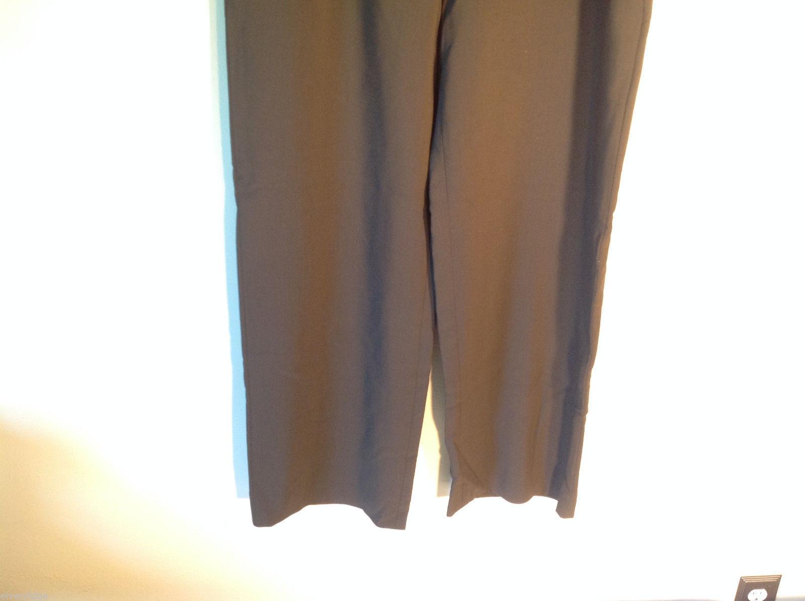 Womens Giorgio Armani Dark Brown Flat Front Trouser Dress Pants Slacks ITALY image 3