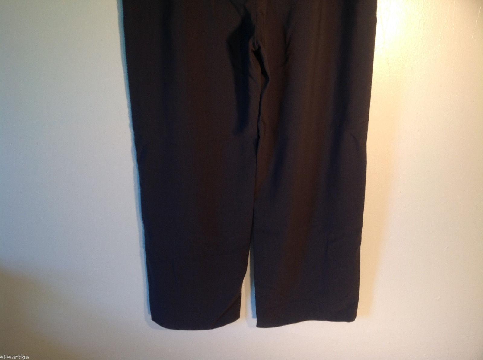 Womens Giorgio Armani Dark Brown Flat Front Trouser Dress Pants Slacks ITALY image 5