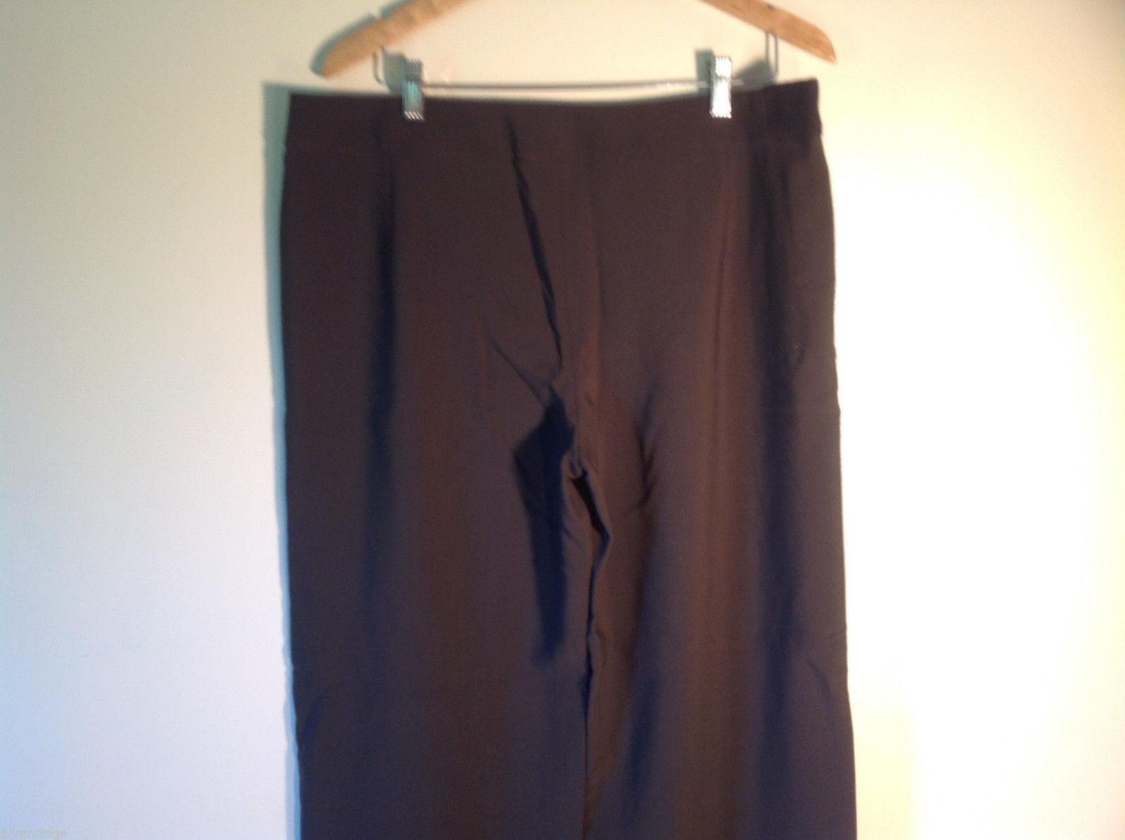 Womens Giorgio Armani Dark Brown Flat Front Trouser Dress Pants Slacks ITALY image 4