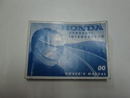 2000 Honda Vfr800 Fi Interceptor Owners Manual Worn Fading Factory Oem Book 00*** - $39.59