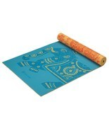 Yoga Mat Non Slip Surface 5mm Print Premium Reversible Lightweight Extra... - $48.27