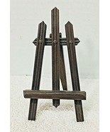 Antique Picket Fence Photo Art Display Easel Stand Miniature - $38.12