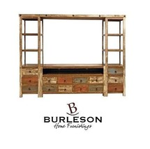 Reclaimed Look Entertainment Center Multi Color TV Stand Wall Unit - $1,579.05