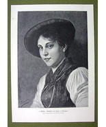 LOVELY GIRL from Tyrol - VICTORIAN Era Print - $14.84
