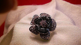 Melania Trump Jewery -Simulated Diamond Flower Shaped Ring  SIZE 6 ----L53 - $28.71
