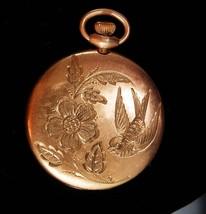 1800s Antique locket Rose gold mourning dove pocketwatch case Victorian ... - $275.00