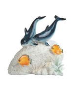 Dolphin Pair on Coral with Fish - $26.95